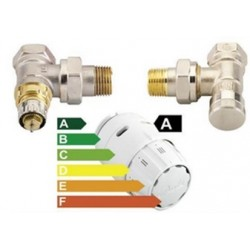 Set robinet colt Termostatat Tur + Retur +Senzor Danfoss